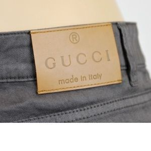 "Gucci chocolate brown ""new flare"" pants"